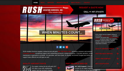 Website image for Rush Aviation Services